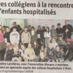 des-collegiens-a-la-rencontre-denfants-hospitalises-le-progres-du-20-janvier-2020